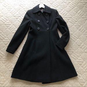 VICTORIA'S SECRET Black Winter A-Line Dress Coat